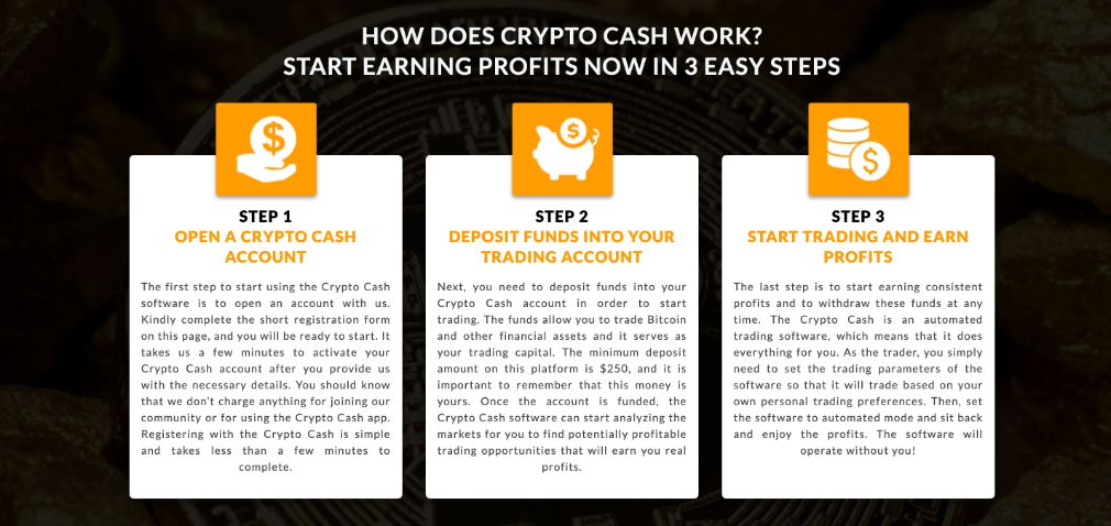 Crypto Cash how to get started