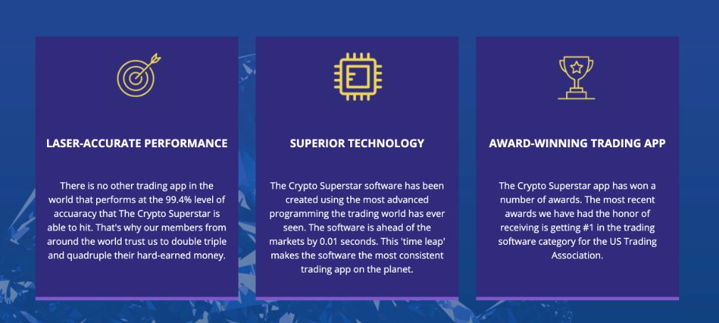 Crypto Superstar benefits